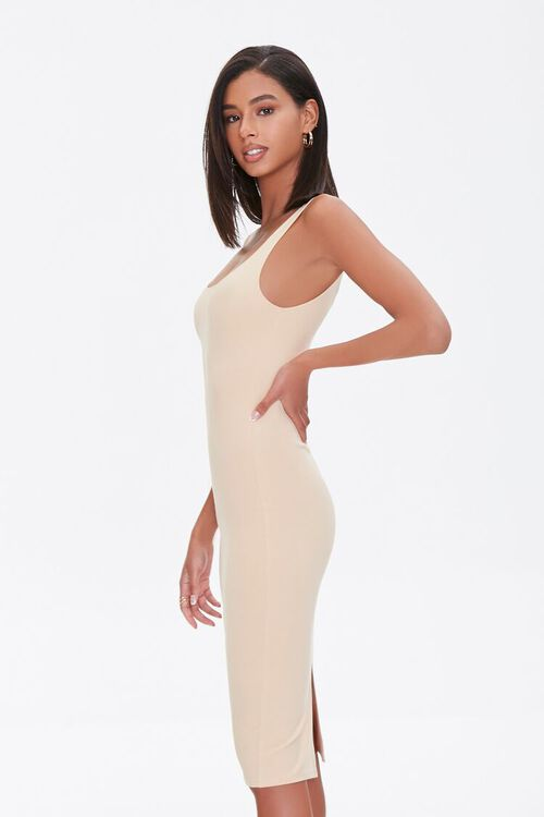 TAUPE Scoop Bodycon Dress, image 2