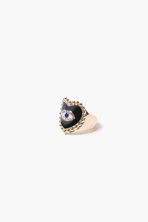 Heart Eye Charm Cocktail Ring, image 2