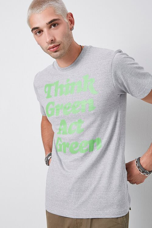 Think Green Act Green Graphic Tee, image 1