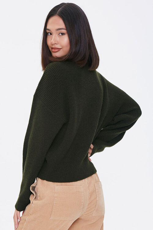 Ribbed Dropped-Sleeve Sweater, image 3