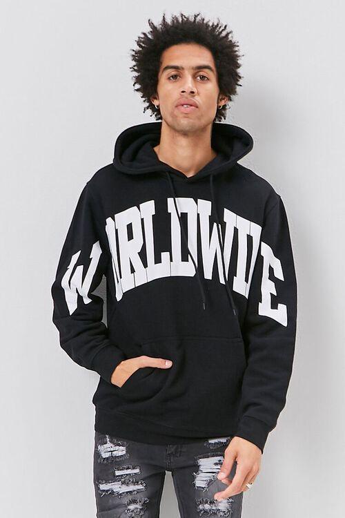 BLACK/WHITE Worldwide Graphic Hoodie, image 2