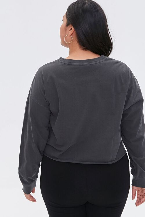 Plus Size New York Cropped Graphic Tee, image 3