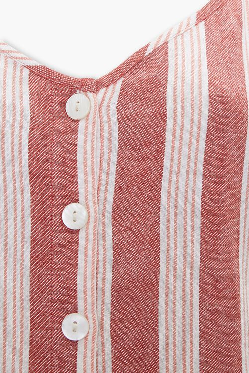 Linen-Blend Striped Cami Dress, image 4