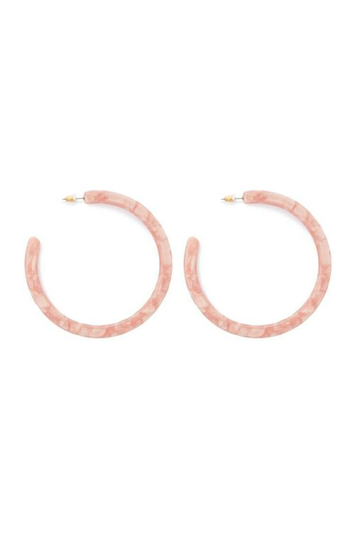 Marble Hoop Earrings, image 1