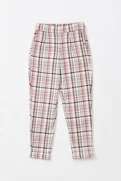Girls Plaid Ankle Pants (Kids), image 1