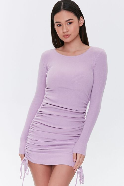 Drawstring Bodycon Midi Dress, image 2