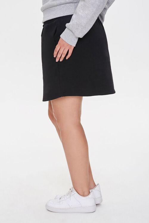 Plus Size French Terry Mini Skirt, image 3