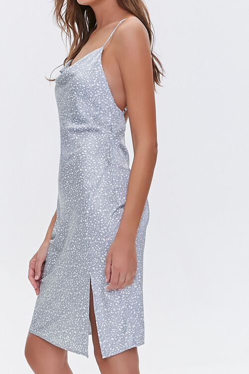 LIGHT BLUE/WHITE Satin Spotted Print Dress, image 2