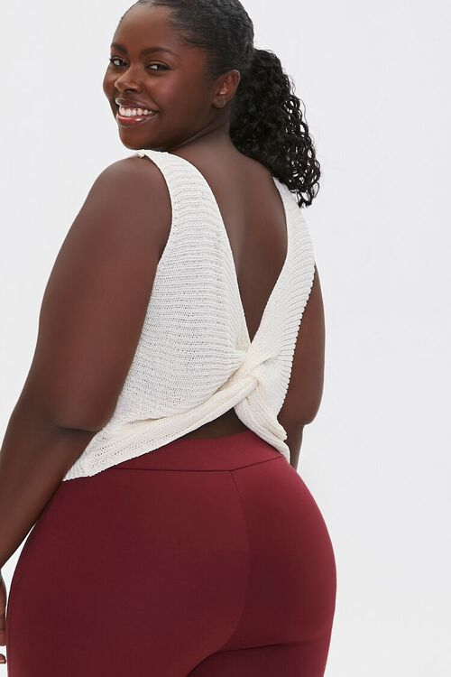 IVORY Plus Size Sweater-Knit Tank Top, image 1