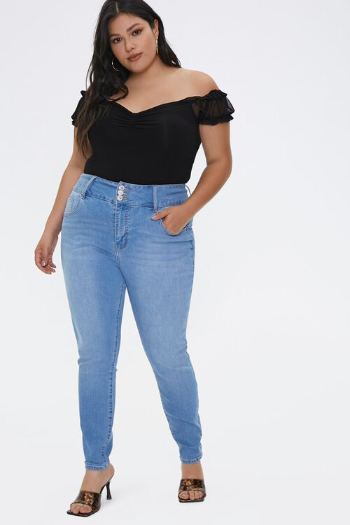 Plus Size Recycled Curvy-Fit Jeans, image 1