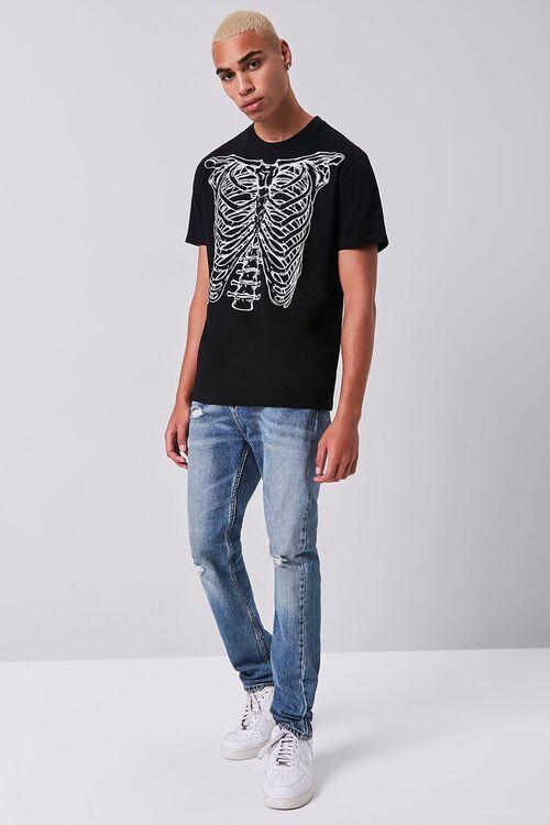 BLACK/WHITE Skeleton Graphic Short-Sleeve Tee, image 4
