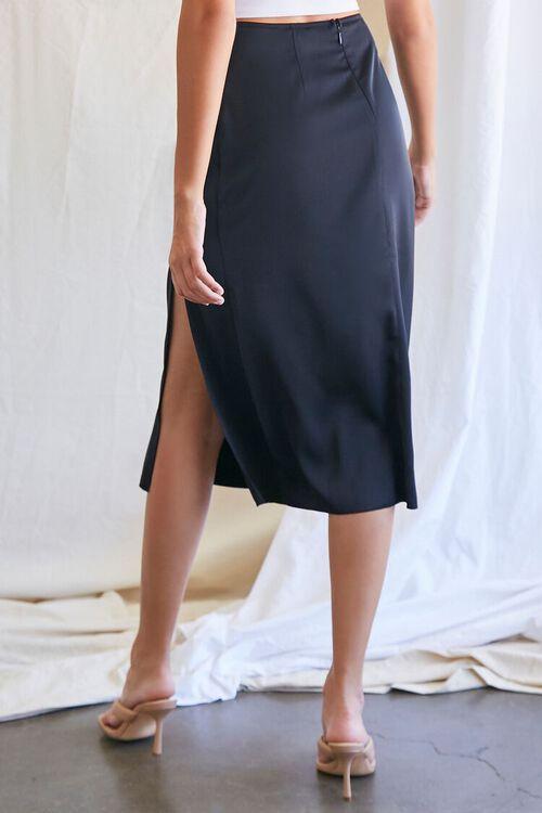 BLACK Knee-Length Slit Skirt, image 4