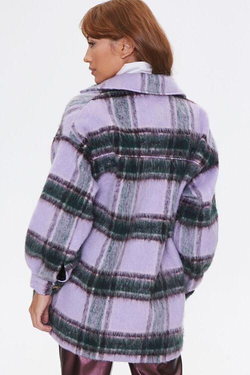 Brushed Plaid Flap-Pocket Coat, image 3