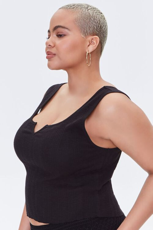 Plus Size Cropped Tank Top, image 2