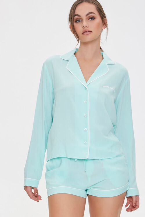 Pretty Please Pajama Shirt & Shorts Set, image 1