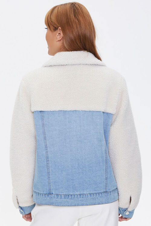 Faux Shearling-Trim Denim Jacket, image 3