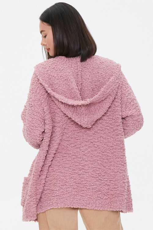 Textured Knit Open-Front Hoodie, image 3
