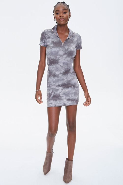 Tie-Dye Half-Zip Dress, image 4
