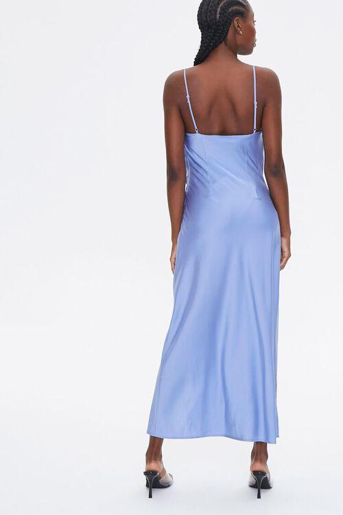 Satin Lace-Trim Side-Slit Dress, image 3