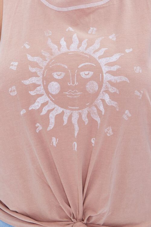 Plus Size Sun Graphic Muscle Tee, image 5