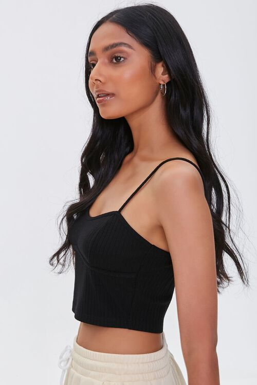 Ribbed Knit Cropped Cami, image 2