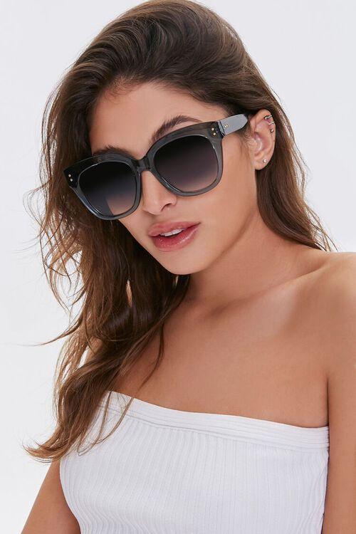 BLUE/BLUE Round Tinted Sunglasses, image 1