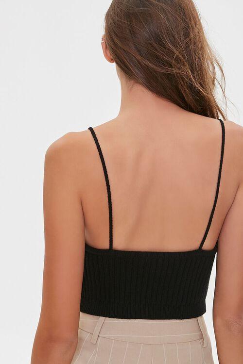 BLACK Sweater-Knit V-Neck Cami, image 3