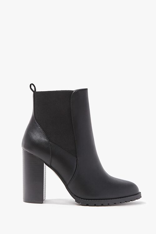 Faux Leather Ankle Boots, image 1