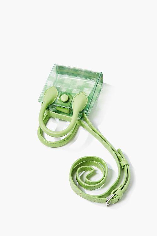 Transparent Plaid Crossbody Bag, image 1