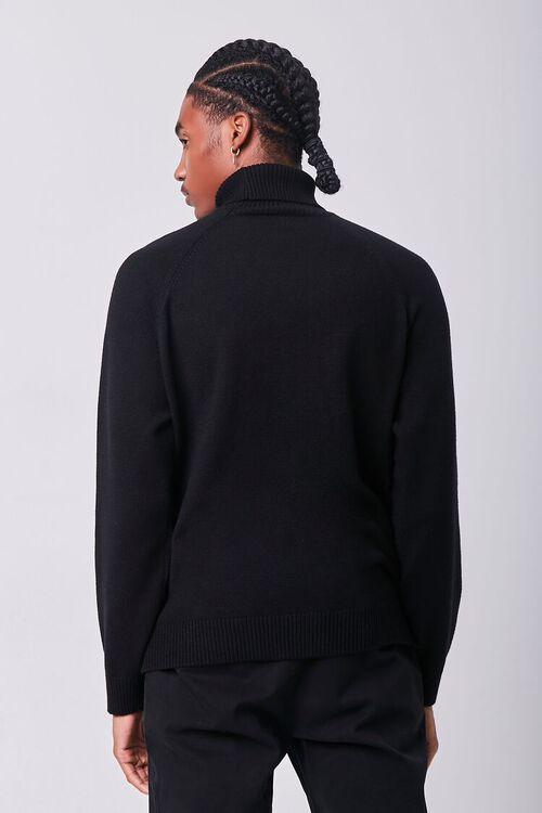 BLACK Turtleneck Raglan Sweater, image 3