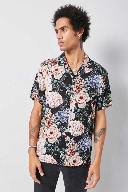 Classic Fit Floral Shirt, image 1