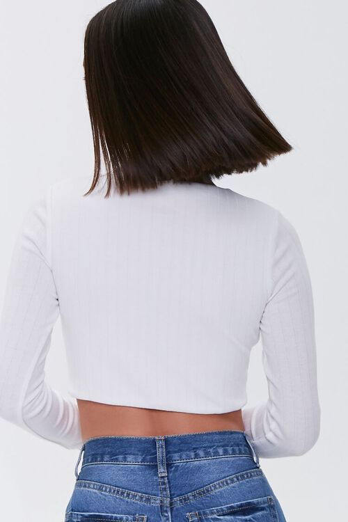 Knotted Rib-Knit Crop Top, image 3