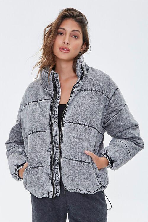 Denim Puffer Jacket, image 2