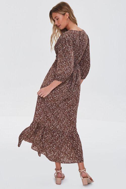 BROWN/MULTI Floral Print Maxi Dress, image 3