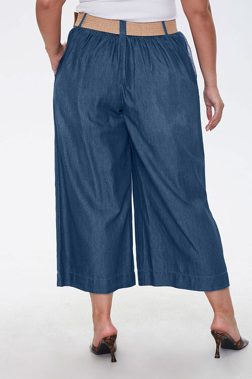 Plus Size Cropped Wide-Leg Jeans, image 4