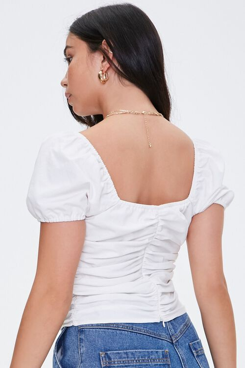 Ruched Puff Sleeve Top, image 3