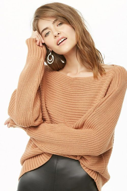 Ribbed Boat Neck Sweater, image 3
