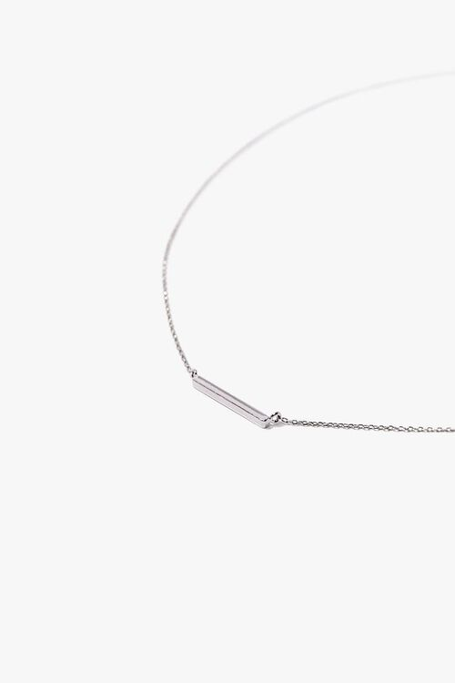 SILVER Bar Pendant Necklace, image 2