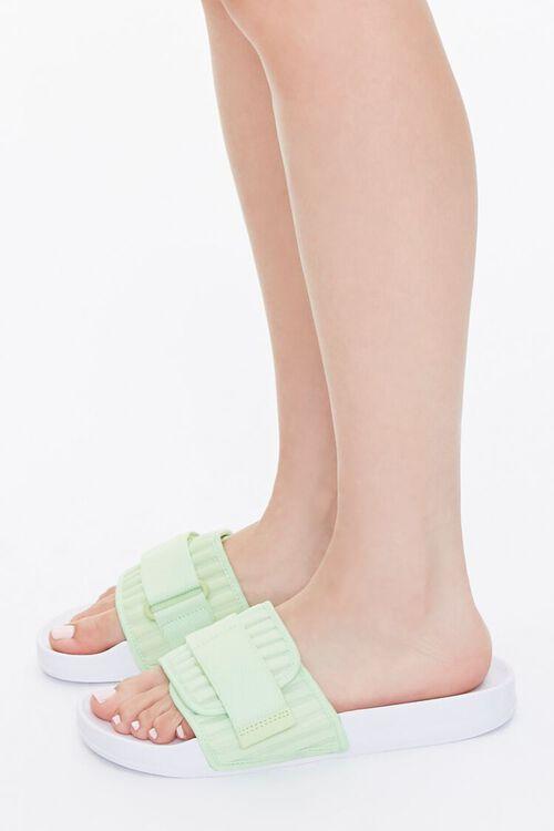 Recycled Adjustable Slide Sandals, image 2