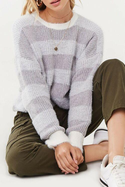 Fuzzy Striped Sweater, image 1