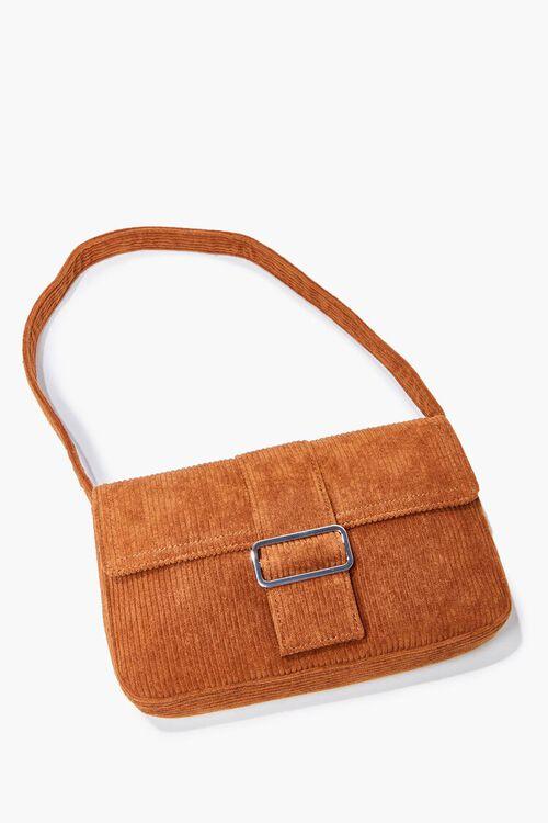 BROWN Corduroy Shoulder Bag, image 4