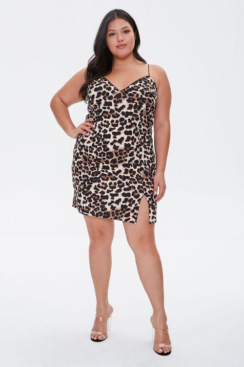 Plus Size Leopard Print Dress, image 4