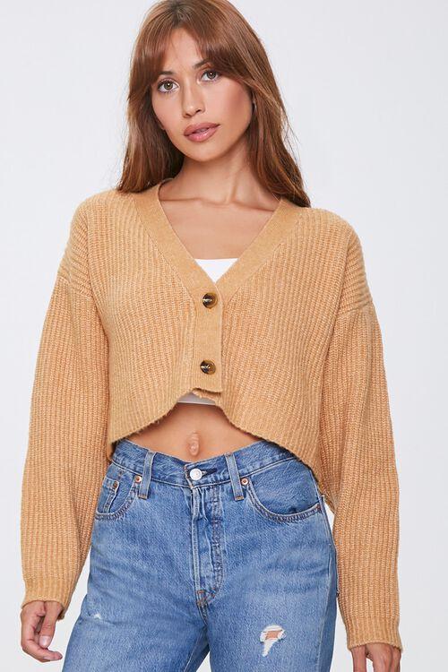 Cropped Cardigan Sweater, image 1