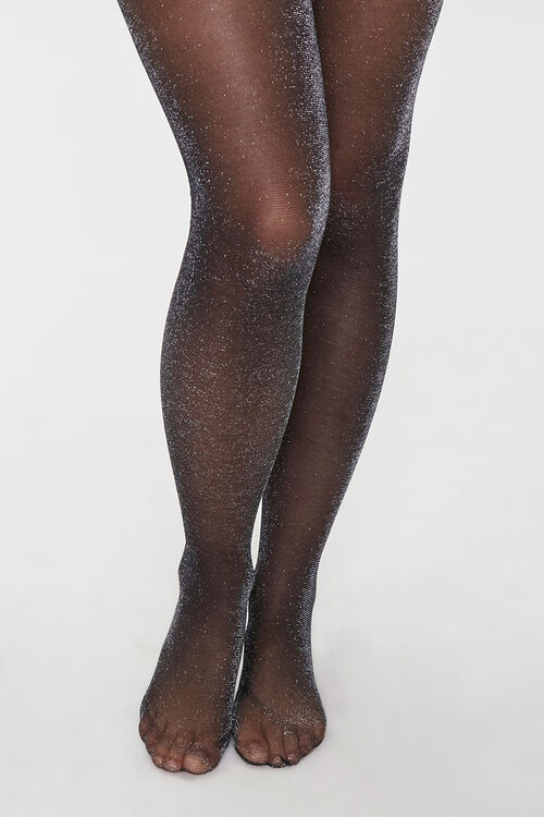 Sheer Glitter Knit Tights, image 4