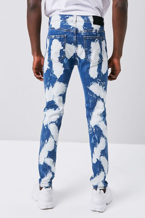 BLUE/MULTI Bleached Wash Skinny Jeans, image 4