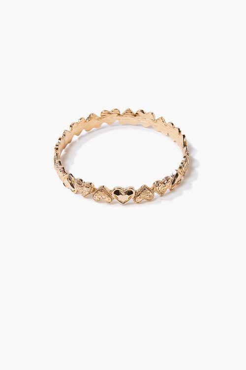 Heart Charm Bangle Bracelet, image 1