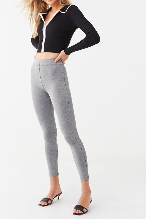 Microplaid Knit Leggings, image 6