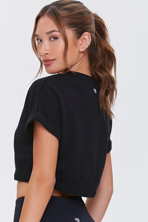 BLACK Active Cropped Tee, image 3