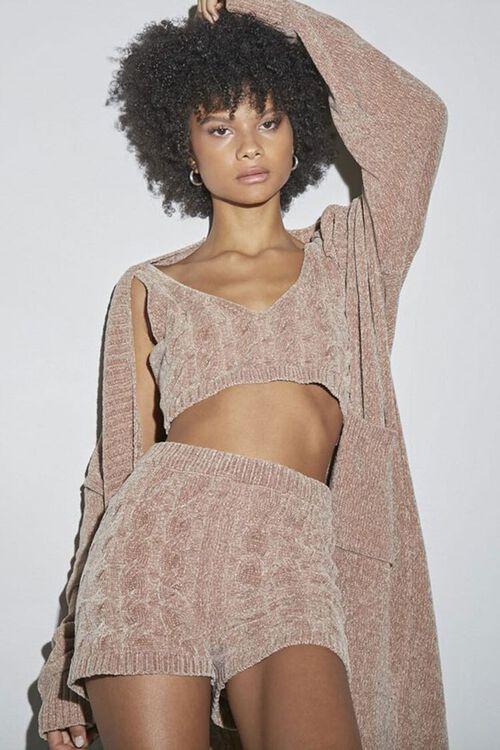 Chenille Longline Cardigan Sweater, image 1