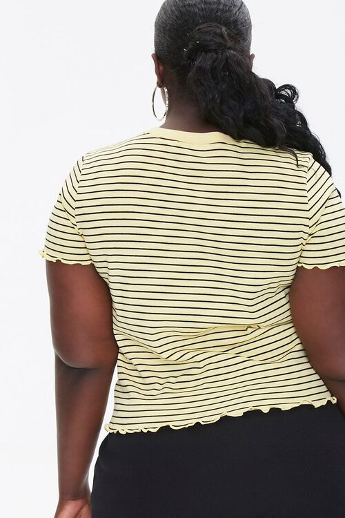 Plus Size Pinstriped Bee Tee, image 3
